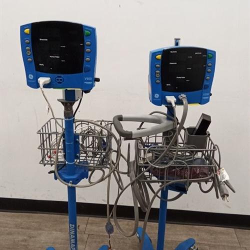 Lot of 2 GE Dinamap Vital Signs Monitors