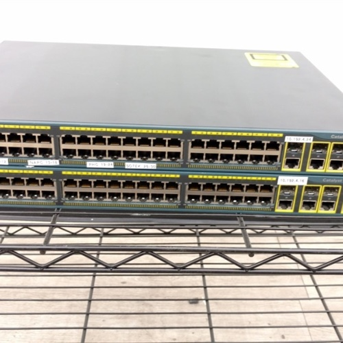 Lot of 2 - Cisco Catalyst 2960 G Series (WS-C2960G-48TC-L) 48 Port Switch