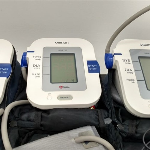 Lot of 3 - Omron HEM-711ACN2 Automatic Blood Pressure Monitors