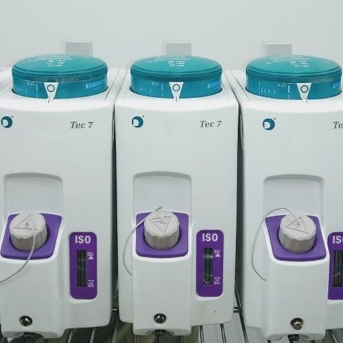 (Lot of 5) Datex-Ohmeda Tec 7 Isoflurane Vaporizers