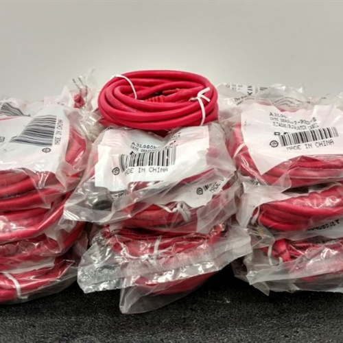 Lot of 25 - Belkin A3l980b07-red-s 7ft Cat6 Red Snagless Patch Cables Rj45m