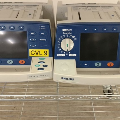 Lot of 16 - Philips HeartStart XL M4735A Smart Biphasic Defibrillators (With 16 M3516A Batteries)
