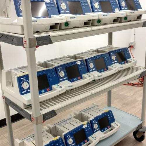 Lot of 11 - Philips HeartStart XL M4735A Defibrillators (No Batteries)