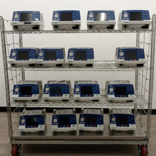 Lot of 16 - Philips HeartStart XL M4735A Defibrillators (No Batteries)