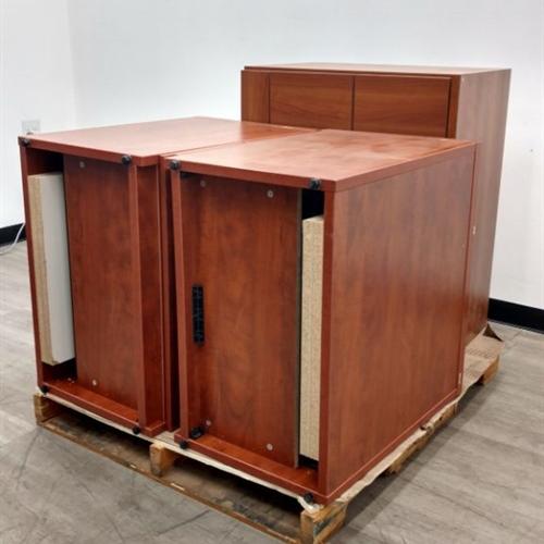 Lot of 3 Wood Cabinets (No Keys)