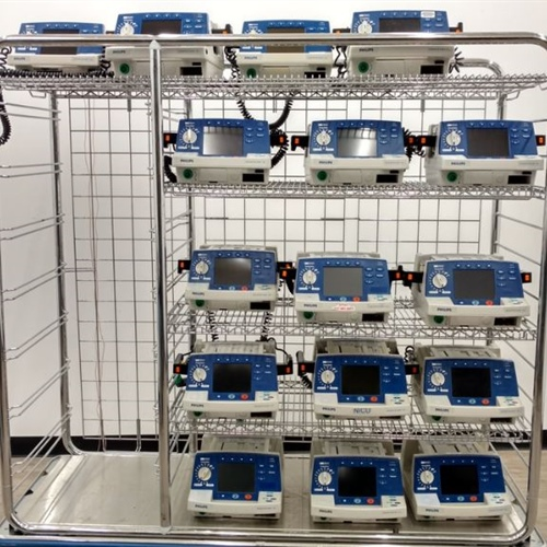 Lot of 16 - Philips HeartStart XL M4735A Defibrillators w/ 12 sets of Paddles (No Batteries)
