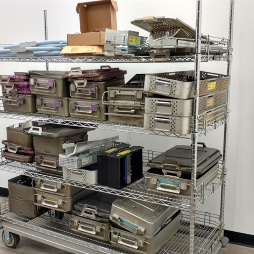 Lot of Empty Surgical Instrument Trays