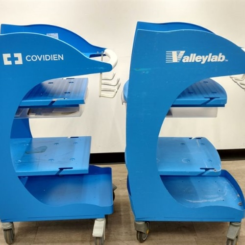 Lot of 2 Covidien ForceTriad Rolling Cart FT900