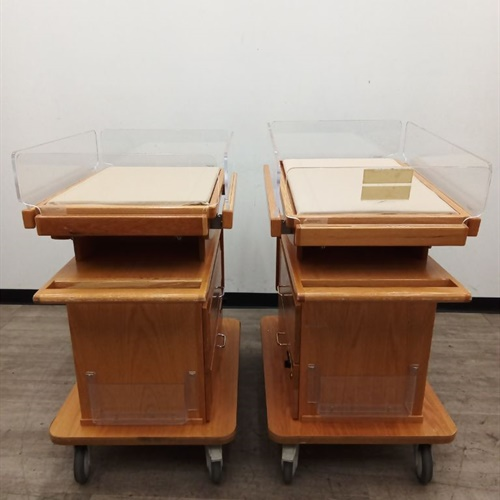 Lot of 2 Wooden Baby Transport