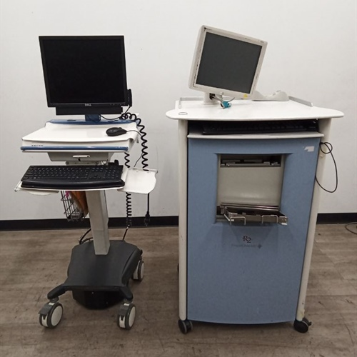 Lot of 2 Image Checker, Rolling Workstation