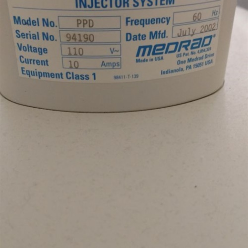Medrad Mark V ProVis Injector System, Model PPD