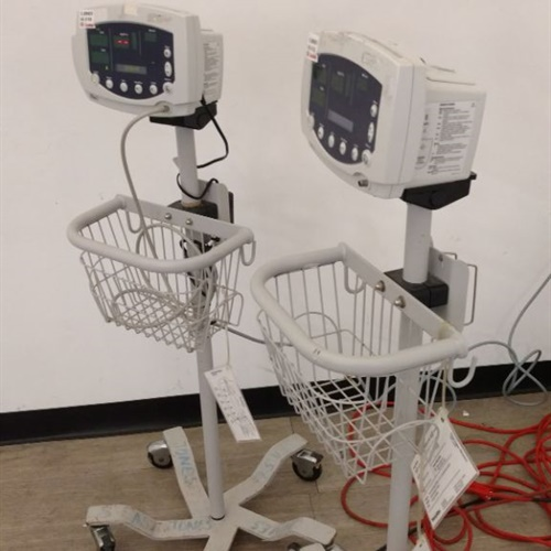 Lot of 2 Welch Allyn 53S00 Patient Monitors