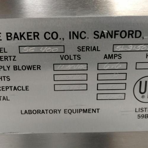 Baker Co. Fume Hood SC400