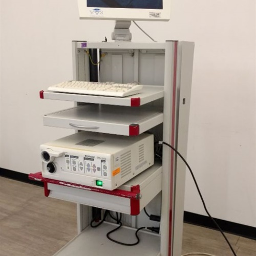 PENTAX EPK-1000 Endoscope Video Processor w/ Keyboard, Monitor & Rolling Cart