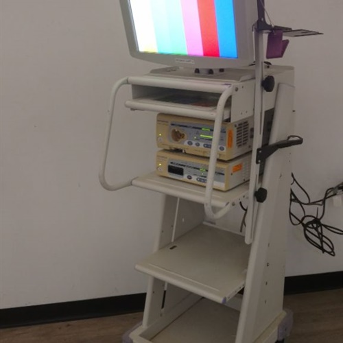 Olympus OTV-S7 Processor /  CLV-S40  Light Source w/ TC-C2 Compact Trolley & Monitor