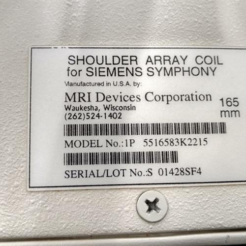 Shoulder Array Coil for Siemens Symphony (Model#: (1P) 5516583K2215)