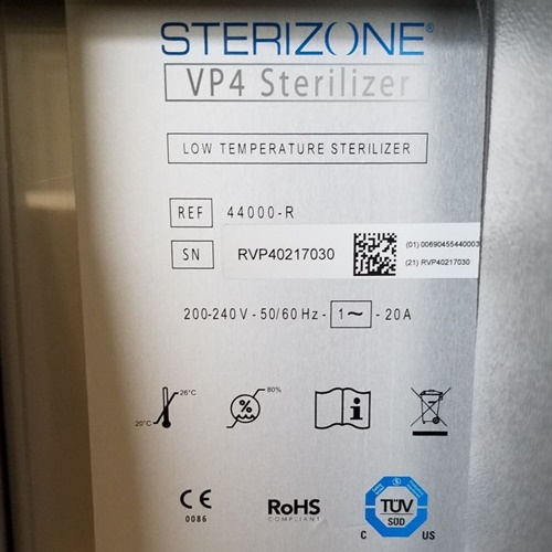 Stryker TSO3 Sterizone VP4 Low Temperature Sterilizer (New)