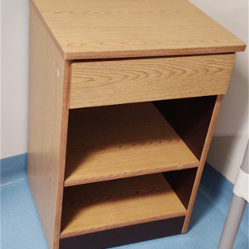 Wood Night Stand for Kids at Wasatch Canyons