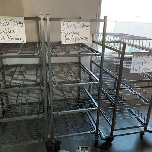 Group of Kitchen Services Racks