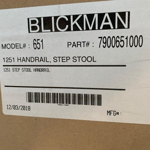 New Blickman Chrome Step Stool with Handle