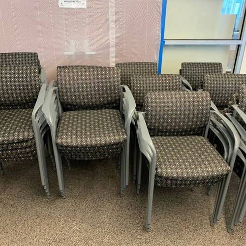 Group of 6 Office Stacking Chairs