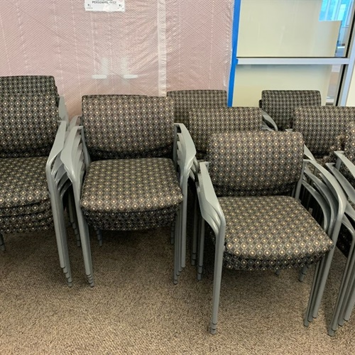 Group of 10 Office Stacking Chairs