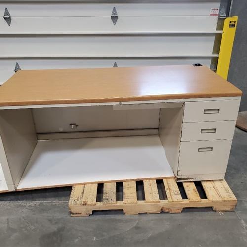 Steel frame desk