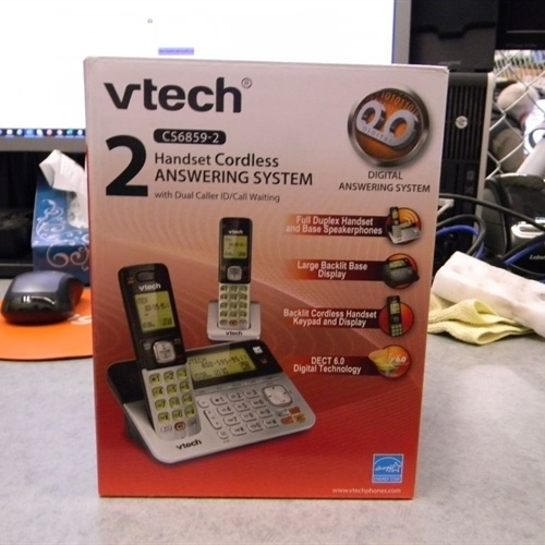 Vtech 2 handset Cordless Answering System *New in Box